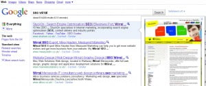 Google Instant Preview for 'SEO Wirral'