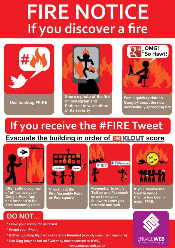 Social Network User S Fire Safety Notice Engage Web