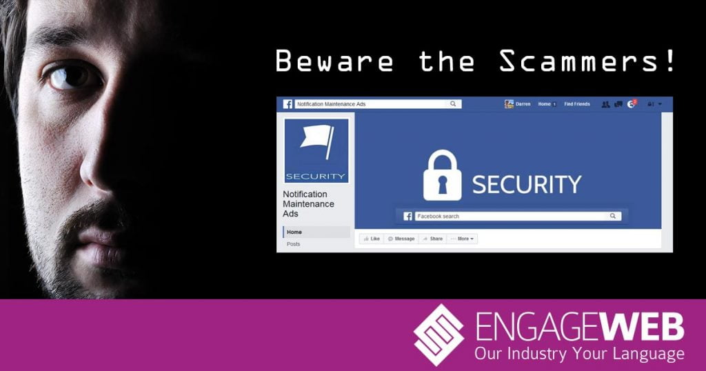 Message to Facebook – stop letting scammers get away with it!