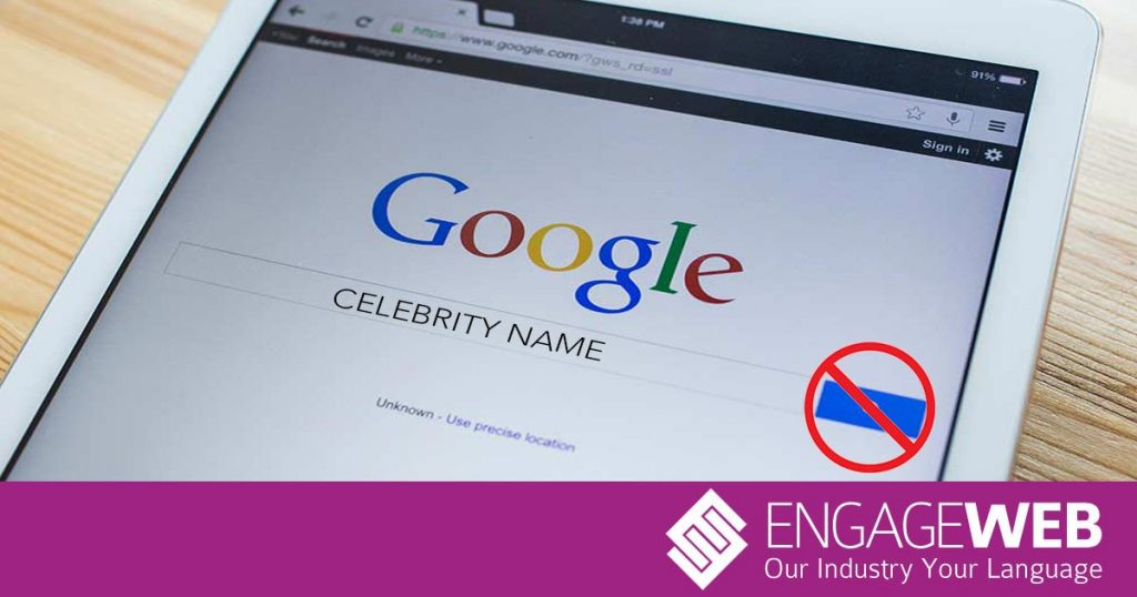Who are the most dangerous celebrities to Google, and why?