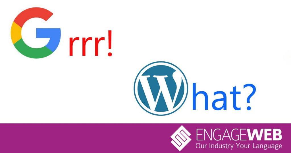 Does Google hate WordPress websites?