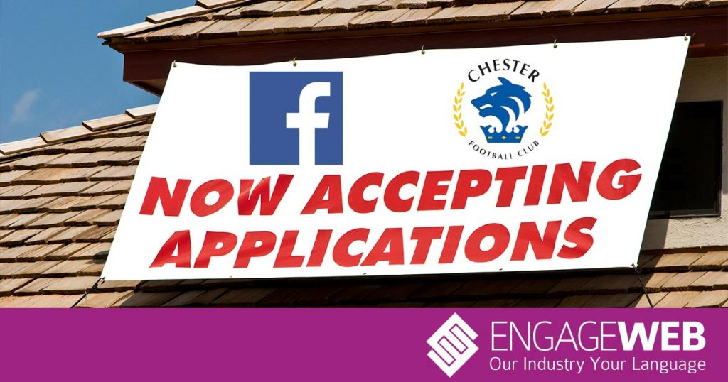 Is it 'tinpot' to advertise jobs on Facebook?