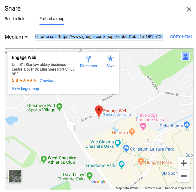 How to embed a Google Map on your website Ene Web Map Embed on